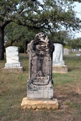 The Oldest Marked Grave in Cemetery image. Click for full size.