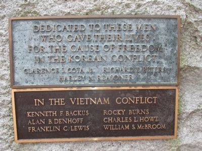 Plaques on Back of Stone - Korea & Vietnam image. Click for full size.