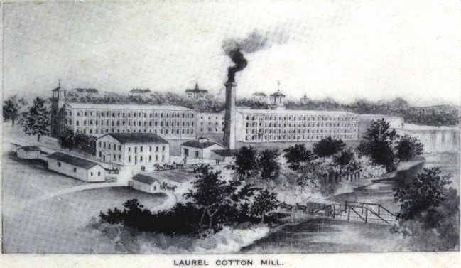 Laurel Cotton Mill image. Click for full size.