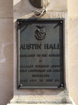 Austin Hall Commemoration Plaque image. Click for full size.