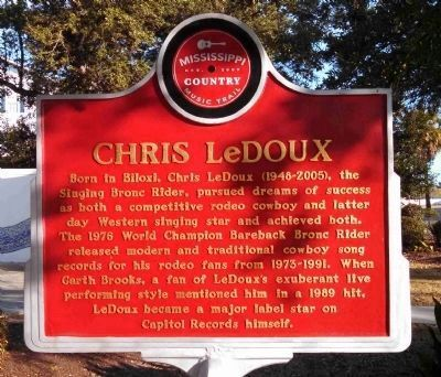 Chris LeDoux Marker (Front/South-Facing) image. Click for full size.
