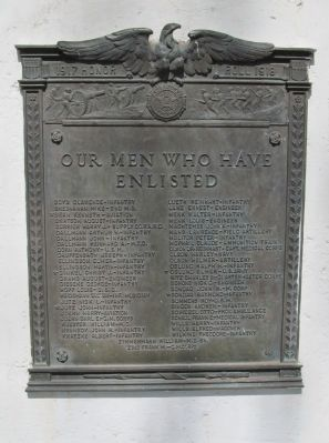 World War I Plaque image. Click for full size.