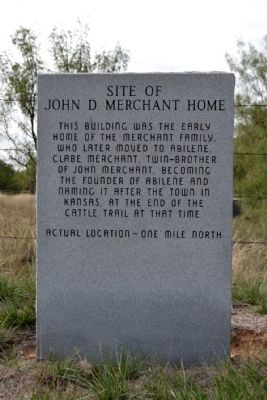 Site of John D. Merchant Home Marker image. Click for full size.
