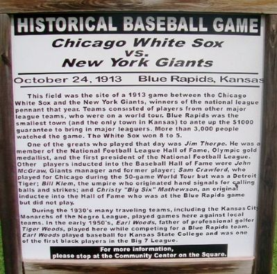 Historical Baseball Game Marker image. Click for full size.
