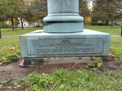 Erected in Memory of The Pioneers of Sandusky Ohio image. Click for full size.