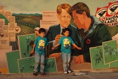 César Chávez Memorial - Cesar, check it out, we're uplifting another generation, Your Bro, Bobby image. Click for full size.