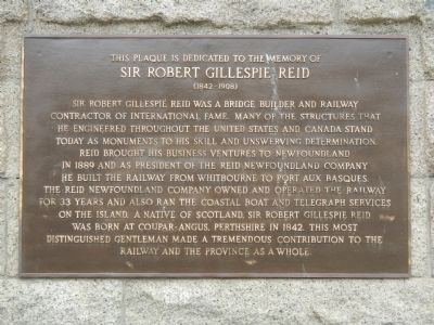 Sir Robert Gillespie Reid Marker image. Click for full size.