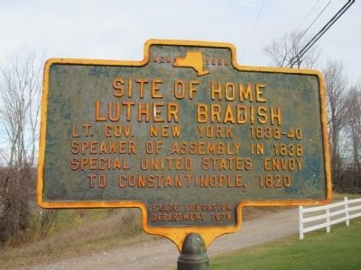 Site of Home, Luther Bradish Marker image. Click for full size.