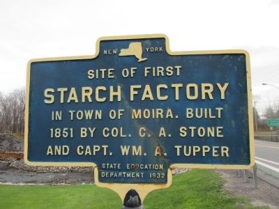 Site of First Starch Factory Marker image. Click for full size.