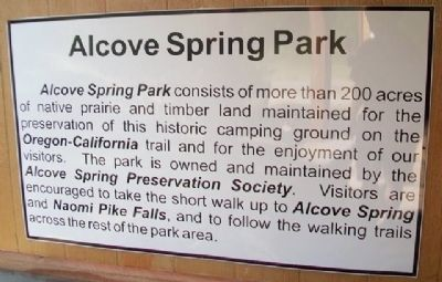 Alcove Spring Park Marker image. Click for full size.