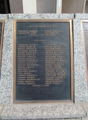 Spanish American War / Vietnam Era Plaque image. Click for full size.