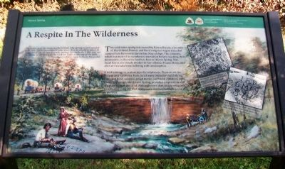 A Respite In The Wilderness Marker image. Click for full size.