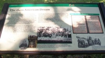 The 1840s American Dream Marker image. Click for full size.