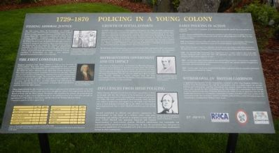 1729-1870 Policing in a Young Colony panel image. Click for full size.