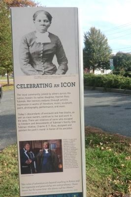 Harriet Tubman Memorial Garden-Celebrating an Icon Marker-Side 2 image. Click for full size.