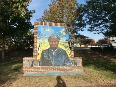 Harriet Tubman Memorial Garden-Mural image. Click for full size.