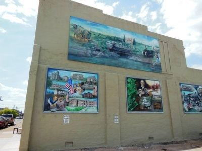 Caldwell County Heritage Trails Mural image. Click for full size.