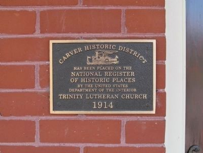 Trinity Lutheran Church Plaque image. Click for full size.