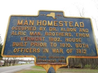 Man Homestead Marker image. Click for full size.