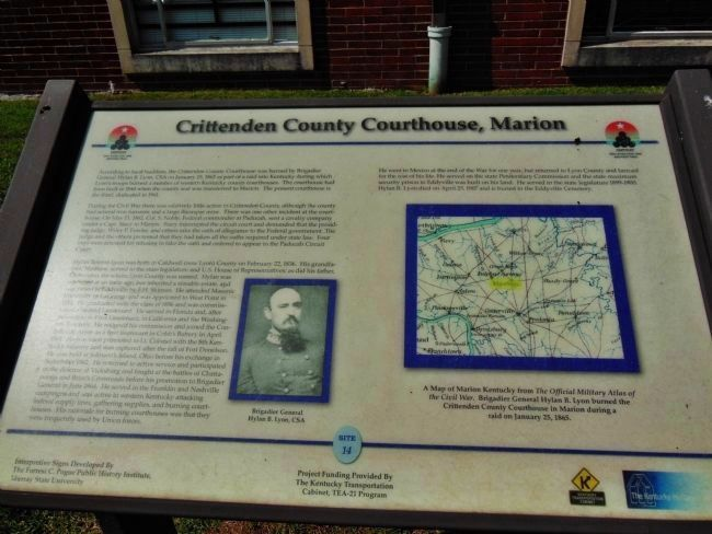 Crittenden County Courthouse, Marion Marker image. Click for full size.