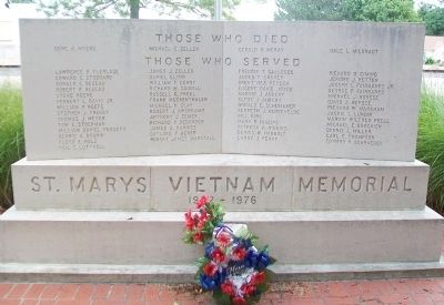 St. Marys Vietnam Memorial image. Click for full size.