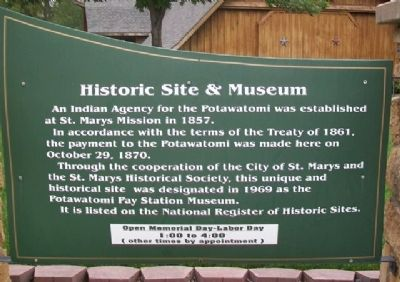 Indian Pay Station Museum Marker image. Click for full size.