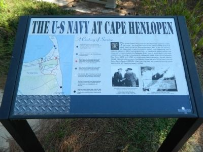 The U.S. Navy at Cape Henlopen Marker image. Click for full size.