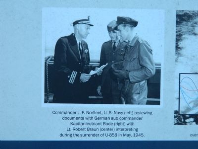 Surrender of German U-Boat Captain Bode at the end of WWII image. Click for full size.