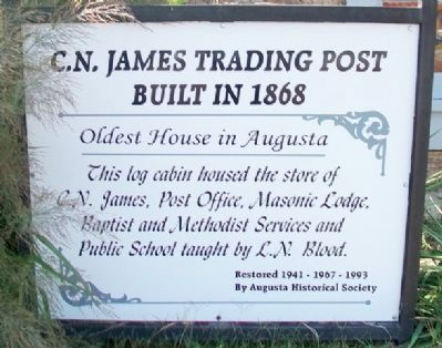 C.N. James Trading Post Marker image. Click for full size.