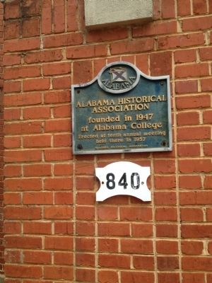 Alabama Historical Association Marker image. Click for full size.