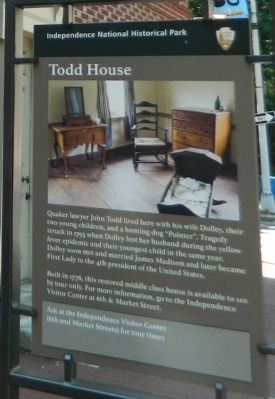 Todd House Marker image. Click for full size.