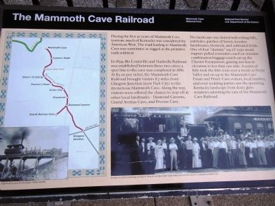 The Mammoth Cave Railroad Marker image. Click for full size.