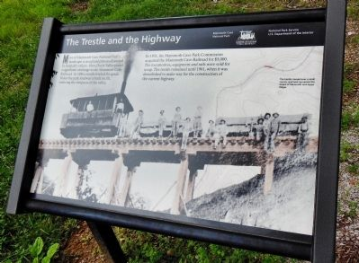 The Trestle and the Highway Marker image. Click for full size.