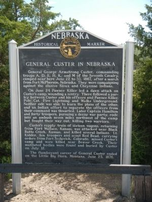General Custer in Nebraska Marker image. Click for full size.