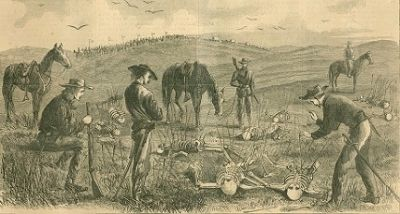 Custer finding the victims of the Kidder Massacre image. Click for full size.