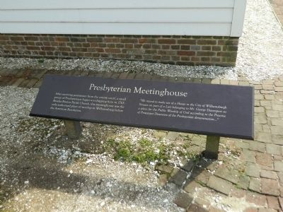 Presbyterian Meetinghouse Marker image. Click for full size.