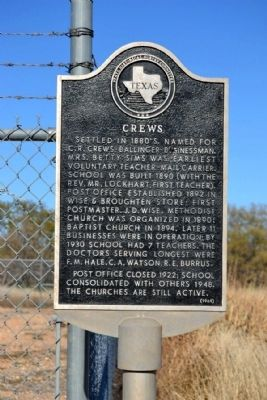 Crews Marker image. Click for full size.