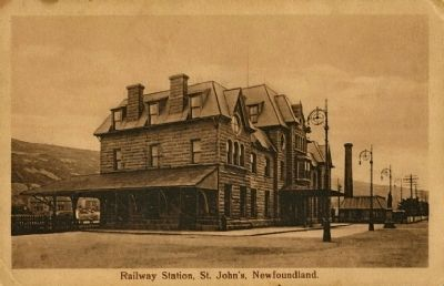 <i>Railway Station, St. John&#39;s, Newfoundland</i> image. Click for full size.