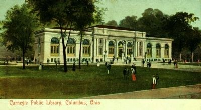 <i> Carnegie Public Library, Columbus, Ohio</i> image. Click for full size.
