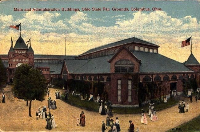 <i>Main and Administration Buildings, Ohio State Fair Grounds, Columbus, Ohio</i> image. Click for full size.