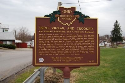 """Bent, Zigzag, and Crooked"" Marker image. Click for full size."