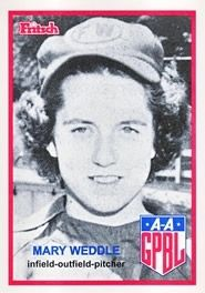 Mary Weddle Baseball Card image. Click for full size.