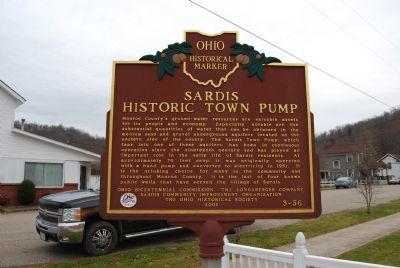 Sardis Historic Town Pump Marker image. Click for full size.