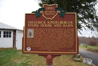 Frederick Kindelberger Stone House and Barn Marker image. Click for full size.