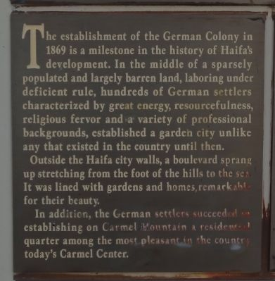 The German Colony Story Marker image. Click for full size.