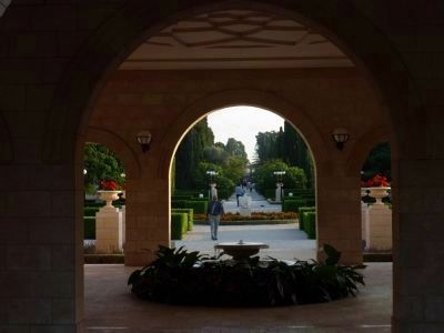 The Shrine and Mansion of Bahá'u'lláh Main Entrance image. Click for full size.