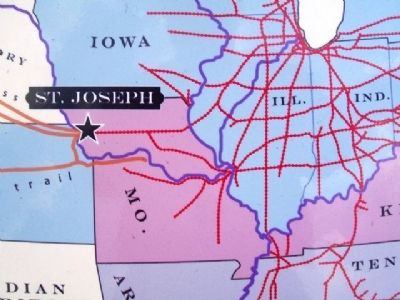 Map on St. Joseph Marker image. Click for full size.