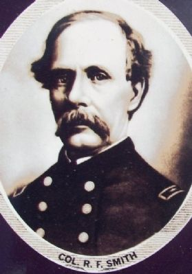 Colonel Smith on Fort Smith Marker image. Click for full size.