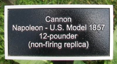 Napoleon 12-pounder sign image. Click for full size.