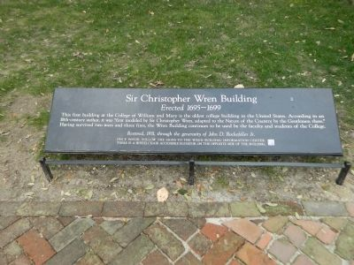 Sir Christopher Wren Building Marker image. Click for full size.